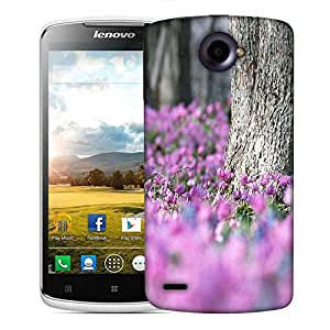 Snoogg Pink Flowers Designer Protective Phone Back Case Cover For Lenovo S920
