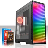 Fierce Quake RGB Gaming PC - Schnell 4.0GHz Quad-Core AMD Ryzen 3 2300X, 120GB Solid State Drive, 2TB Festplatte, 8GB 2666MHz, NVIDIA GeForce GTX 1050 Ti 4GB, Windows 10 installiert 538770