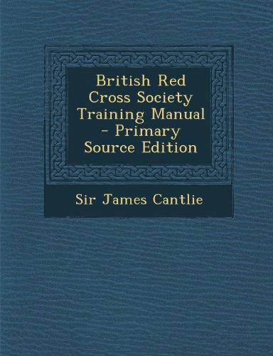 British Red Cross Society Training Manual