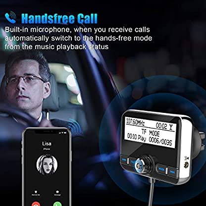 DAB-Autoradio-Empfnger-Transmitter-Wonsidary-Auto-DAB-Digital-Radio-Adapter-mit-FM-Transmitter-Bluetooth-Freisprecheinrichtung-Bluetooth-Audio-MP3