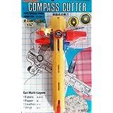 C-106giratorio Cúter compás, Cut Multi Capas, tela papel Cuero Vinilo–Diámetro de corte de 3cm-24cm