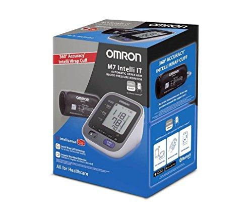 OMRON M7 Intelli IT Misuratore di Pressione da Braccio, Connessione Bluetooth per App OMRON Connect, Bracciale Intelli Wrap Cuff - 4