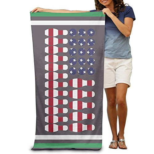 Patriotic Lover Bowling Ball Ki American Flag Bath Towels Beach Towels Swim Towels Adults Soft Absorbent