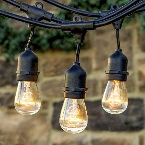 LED Lichterkette Außen Lichterkette Set von GREEMPIRE 9 x E27 Fassung Lichtschnur Dekolampe 10m Wasserdicht Dekolicht für Haus Garten Party Hochzeit Weihnachten Feier (keine Birne enthält)