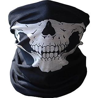 ANKKO Skull Tubular Maske Bandana Motorrad Schal Face Hals wärmer Pflicht Helm
