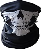 ANKKO Skull Tubular Mask Bandana Motorcycle Scarf Face Neck Warmer Duty helmet