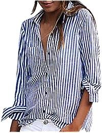 Mujer Rayas De Camisas Mujer es Y Ropa Blusas Amazon w4ItqSx