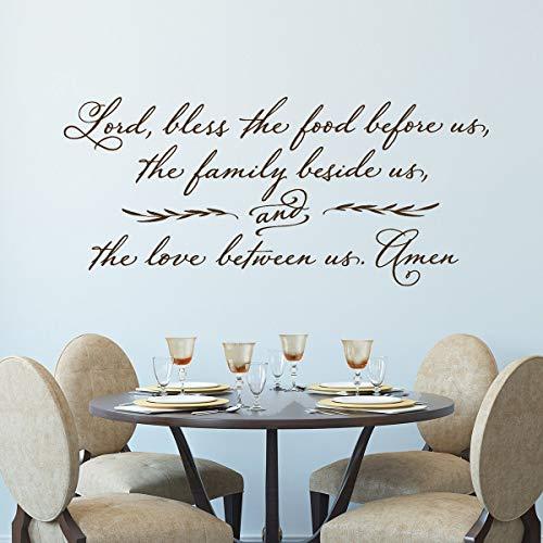 Dozili Wandtattoo/Wandaufkleber, christliches Gebetsaufkleber, mit englischsprachiger Aufschrift Lord, Bless The Food Before US, 84 x 38 cm
