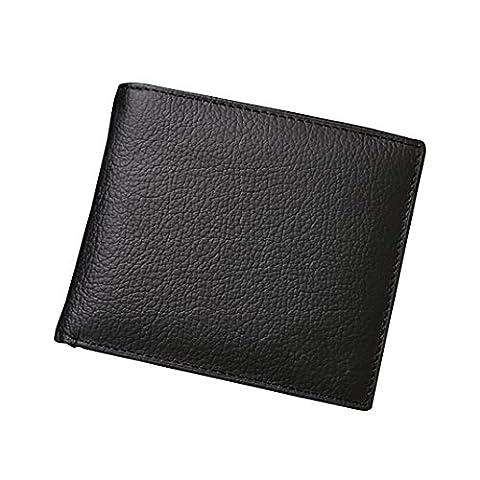 Noir Portefeuille Cuir Homme, Asnlove Classique Portefeuille Minimaliste élégant Porte-monnaie