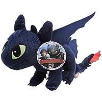 Enorme PELUCHE XXL Dragons SDENTATO Furia Buia Gigante QUASI 1 METRO Originale DRAGON TRAINER