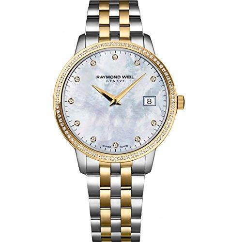 Raymond Weil Damen-Armbanduhr Toccata Classic Quarz Diamant 34 mm 5388-SPS-97081