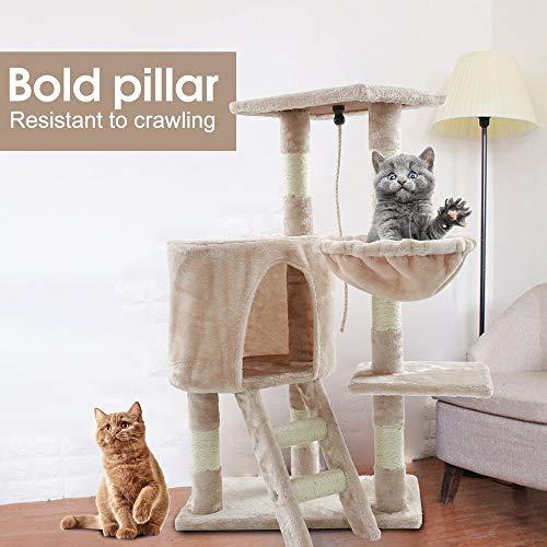 Dekorative Möbel-Ausgangsumweltschöne reizende Katze-Haustier-Kletterbäume, die Übung Spielen, spielt Beige -