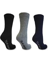 3 Paar Schafwollsocken mit Vollfrottee, Thermo Socken - Super warm