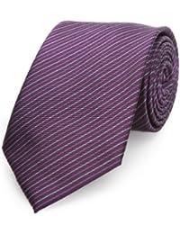 Otto Kern Herren Krawatten Schmale Krawatte Lila