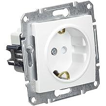 Schneider Electric SDN3000121 Base Enchufe Schuko 16A 250 V, Blanco