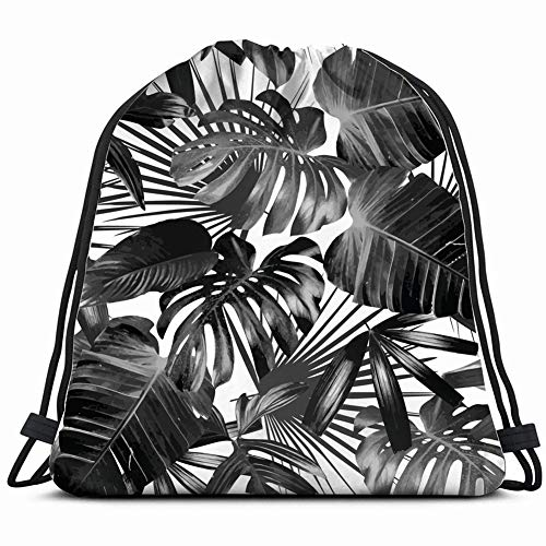 fjfjfdjk Graphic Plant Palm Leaf Tropic Print Nature Drawstring Backpack Gym Sack Lightweight Bag Water Resistant Gym Backpack for Women&Men for Sports,Travelling,Hiking,Camping,Shopping Yoga -
