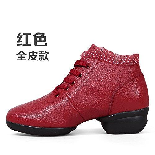 Wuyulunbi@ Scarpe da ballo con pavimento morbido scarpe da ballo Claret