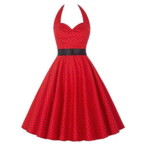 Vintage 50er Dot Rockabilly Swing Kleider Damen Neckholder Bügel ...