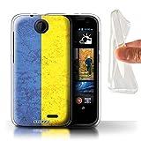 STUFF4Phone case/cover/Skin/htc-gc/Flag Collection, Gel, Ukraine/Ukrainian, HTC Desire 310