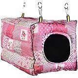 Zaote Hamster Hanging House Warm Cotton Zelt Bett Nest für Hamster Meerschweinchen Galesaur Chinchilla Kaninchen Kleine Tiere