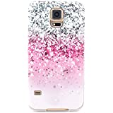 Galaxy S5 Mini Hülle, JIAXIUFEN Neue Modelle TPU Silikon Schutz Handy Hülle Case Tasche Etui Bumper für Samsung Galaxy S5 mini -Pink Gray White Drops Style