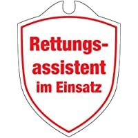 KLK Erwachsene Rettungsassistent im Einsatz Autoschild, Weiß, One Size preisvergleich bei billige-tabletten.eu