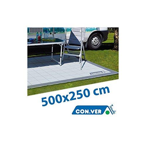 CON.VER - Stuoia per Veranda CONVER Tappeto Lavabile Camper Caravan Roulotte Campeggio - 15.01.00 - 500x250 cm