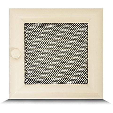 17x17cm Rejilla de lamas Aire rejilla ventilación Chimenea regulable semicircular perfil - acero inoxidable -
