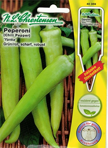 Chrestensen Gewürzpaprika / Peperoni 'Yanka' grün-rot, scharf, robust