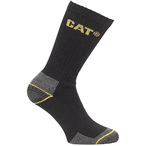 Caterpillar CAT Crew Arbeitssocke - 3 Paare schwarz - 11X14 - UK 11 - 14 EU / UK (Cat Boots Toe Steel)