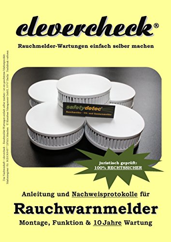 Rauchmelder Nachweis für Montage & Wartung (clevercheck Nachweisheft), inkl. GRATIS 1 x Rauchmelder...