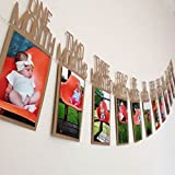 #7: Shopperskart happy birthday Photo banner ( Brown color hbd alphabets letters image picture name set for girls boys kids husband wife friend baby room 1st first décor decoration decorations wall hangings banner with special party supplies materials items props paper printed crown shaped sparkle months monthwise )