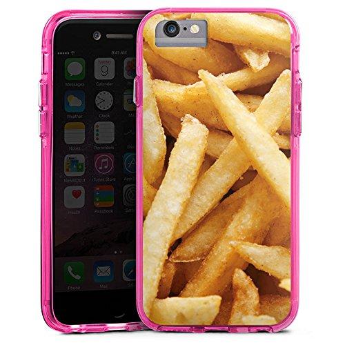 Apple iPhone X Bumper Hülle Bumper Case Glitzer Hülle Pommes Fritten Chips Bumper Case transparent pink
