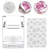 Nail Art Jelly Stamper with Scrapers Set Transparent Soft Clear Dual-end manicuring Print DIY Tool Kit