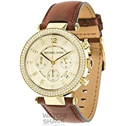 MK2249 Ladies Michael Kors Chronograph Leather Strap Watch