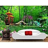 3d foto wallpaper soggiorno murale, fiori paesaggio cinese immagine divano TV sfondo non tessuto, carta da parati per parete 280 cm (L) x 180 cm (A)