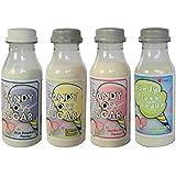 Pack de 4 sabores de azúcar de colores (225g) Adecuado para máquinas de algodón de azúcar.