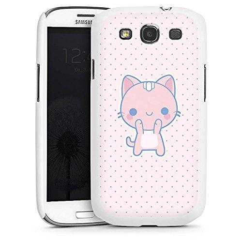 DeinDesign Hülle kompatibel mit Samsung Galaxy S3 Handyhülle Case Katze Cat Kawaii