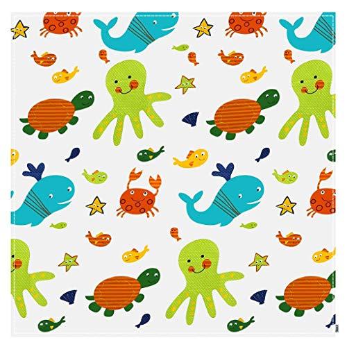 Rryilong Baby Krabbeln Matte Teppiche Anti-Rutsch Matte,Waschbar Faltbar Wasserdicht,110×110cm (Teppich-matte Unter)