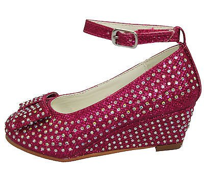 Sandales pour fille strass forme de chaussure avec nœud de mariage Noir - Noir