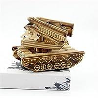 pengweiCaja de música de madera tanque de radar de juguete modelo de regalos creativos de la artesanía