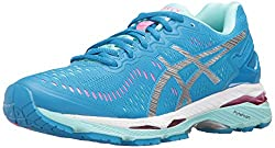 ASICS Womens Gel-Kayano 23 Running Shoe, Diva Blue/Silver/Aqua Splash, 6.5 M US