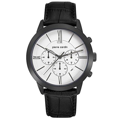PIERRE CARDIN Reloj Cronógrafo para Hombre de Cuarzo con Correa en Cuero PC105891F12
