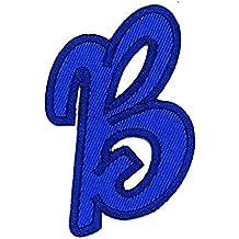 Little Bear Shop A-Z Patches Parche bordado con la letra B del alfabeto inglés, para