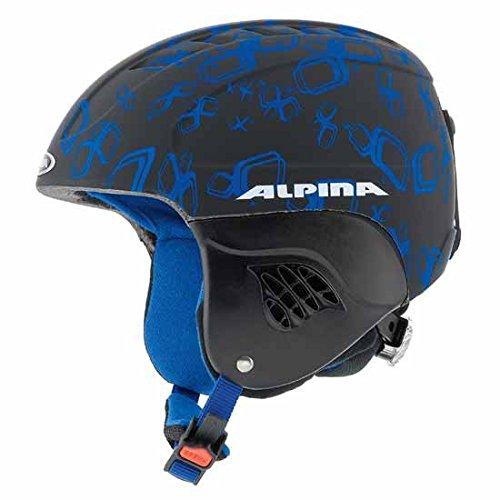 Kinderskihelm Alpina CARAT L.E. in div. Designs und Größen, Alpina Größen:48-52, Alpina Farben:black-blue matt