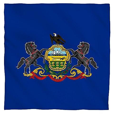 Pennsylvania Flag Bandana (White,
