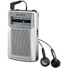 Sony SRFS26S - Radio portátil AM/FM, color plata