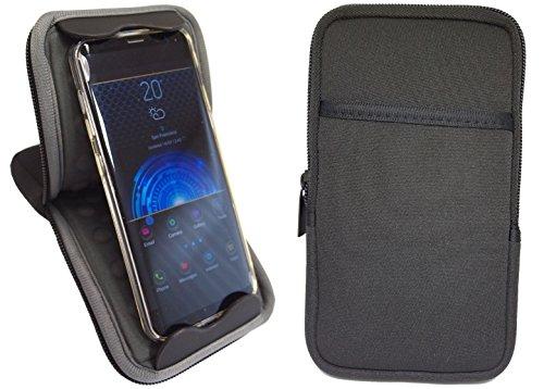 Universal Handyhülle 6 zoll Shockproof Aufsteller Handytasche Schwarz für z.B.: iPhone 8 Plus, 7s Plus, Cubot Max, Huawei Mate 10 Pro, Samsung Note 8, S8 Plus