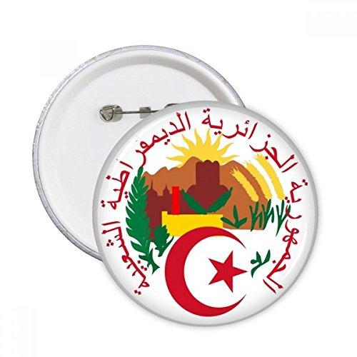 DIYthinker Botón Argel Argelia Emblema Nacional pernos redondos Placa ropa 5Pcs la decoración del regalo Multicolor S
