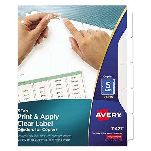 Avery 11421Trennblatt–Trennblätter (weiß, Letter) (Avery Teiler Weiß)